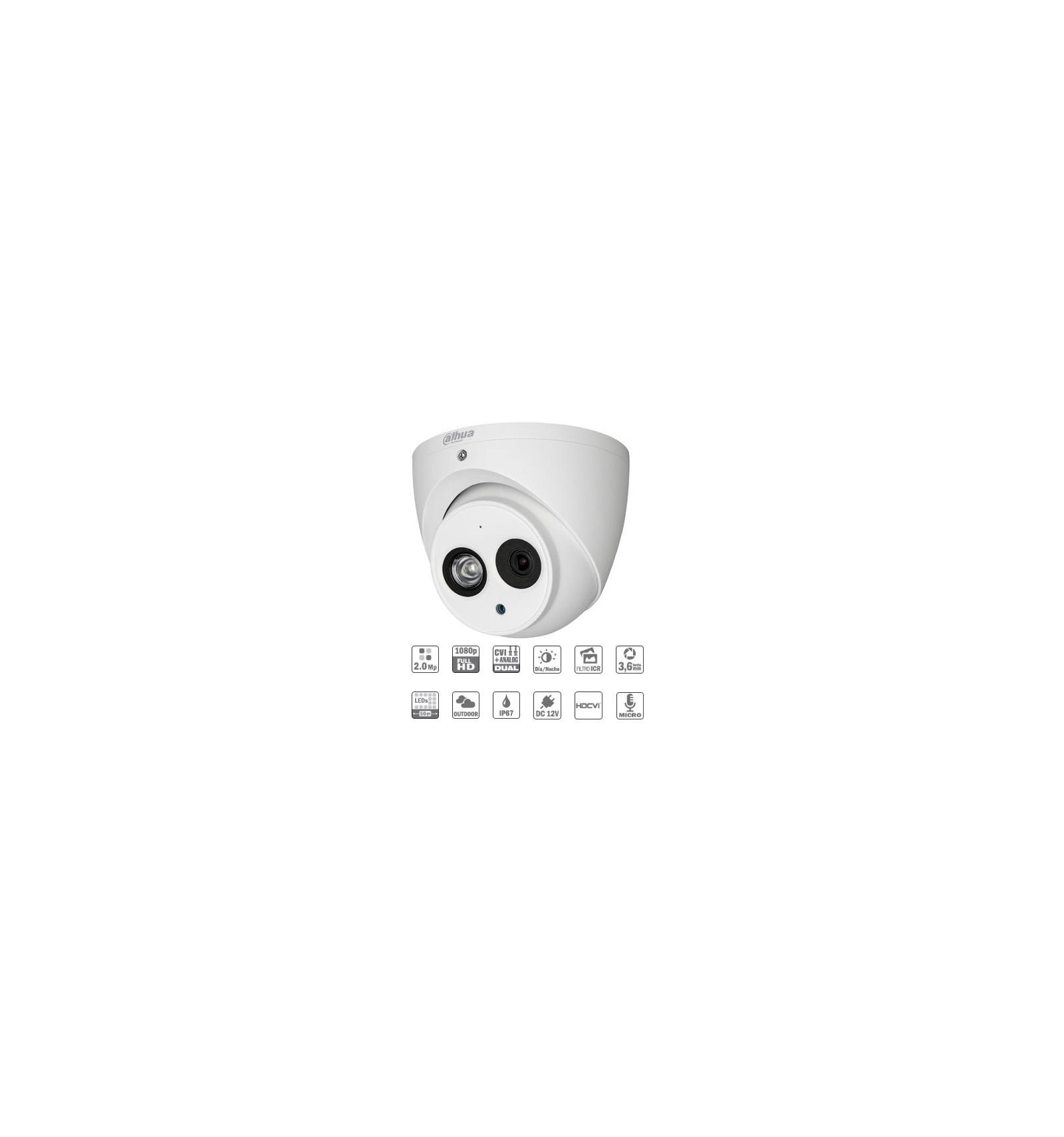 Camara de vigilancia exterior domo hdcvi 2m 1080p dn icr for Camara vigilancia exterior
