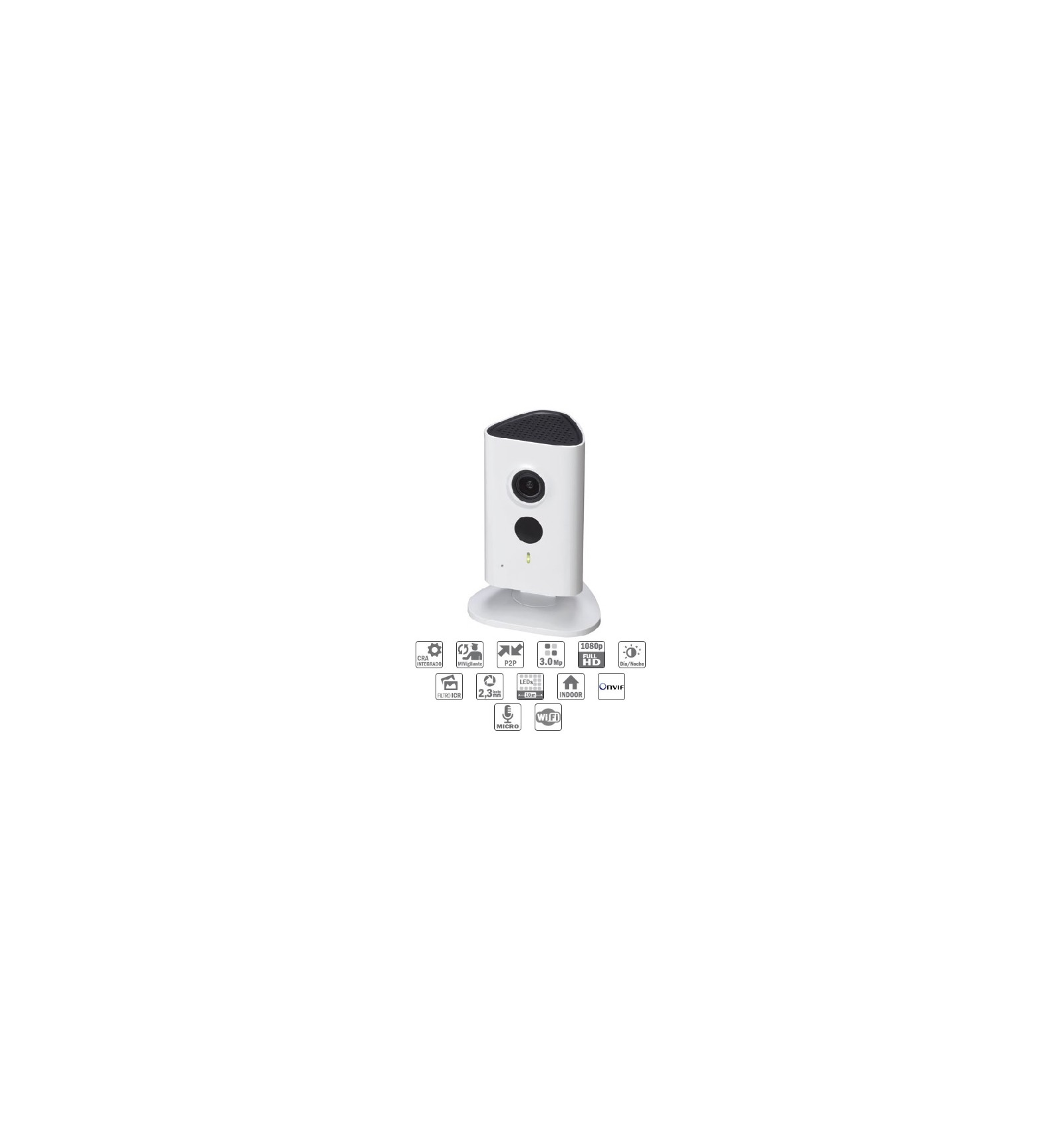 Camara de vigilancia ip wifi cubo 3mp dn ir10m con audio - Camara de vigilancia ip wifi ...
