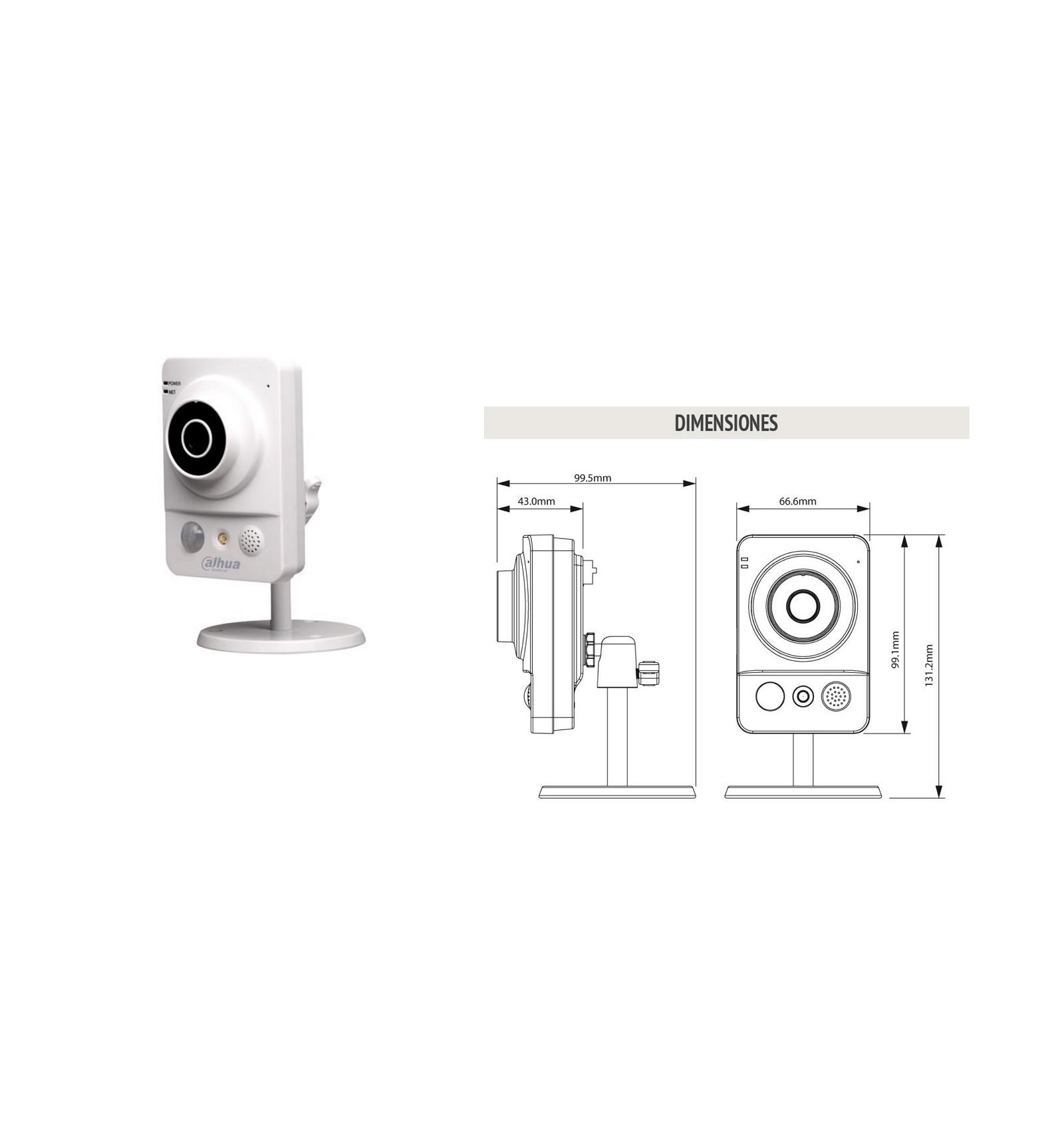 Camara de vigilancia ip wifi cubo con luz blanca y - Camaras de vigilancia ip wifi ...