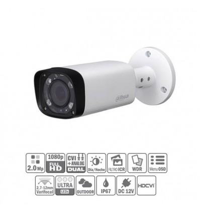 Camara de vigilancia  HDCVI 2M 1080P DN ICR WDR IR60m 0Lux 2.7-12 VFM IP67