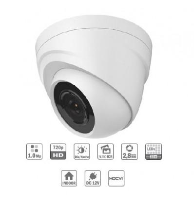 Camara de vigilancia Domo interior HDCVI 1M 720P DN ICR IR20m 0Lux 2.8mm