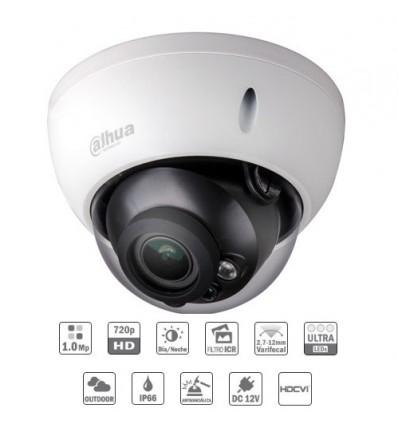Camara de vigilancia exterior Domo HDCVI 1M 720P DN ICR IR30m 0Lux 2.7-12 IP66 IK10