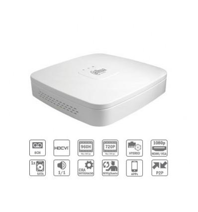 Grabador Híbrido 8ch 960H/720P@12ips 2IP 1HDMI 1HDD