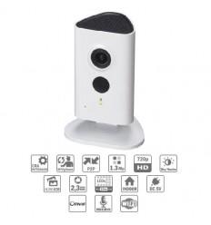 Camara de vigilancia Cubo IP 1.3M DN IR10m 2.3mm Solo Wifi Audio SD 5V