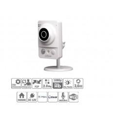 Camara de vigilancia Cubo IP 2M DN Luz Blanca 10m 3.6 Wifi PIR Audio E/S
