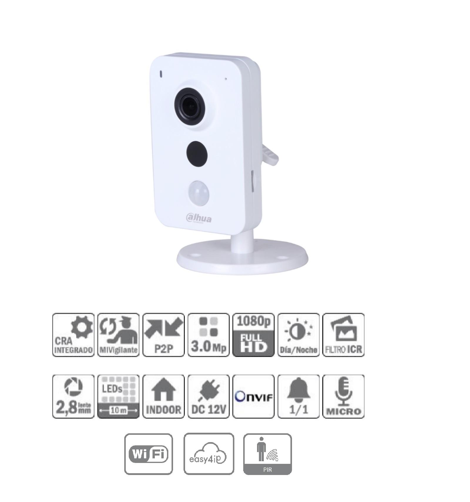 Camara de vigilancia ip wifi cubo 3mp con audio y - Camaras de vigilancia ip wifi ...