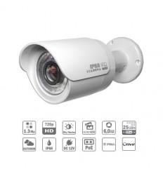 Camara de vigilancia Tubular Tubular IP 1.3M DN dWDR IR20m 6mm IP66 PoE