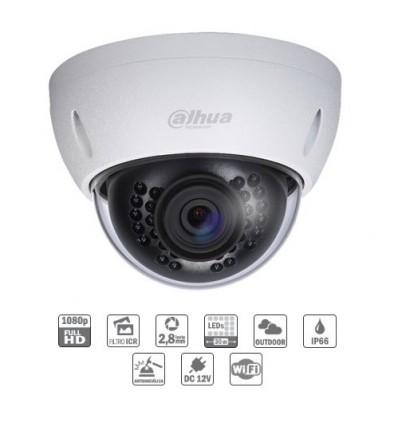 Camara de vigilancia domo IP 2M DN dWDR 3D-NR IR 30m 2.8mm IK10 IP66 WiFi