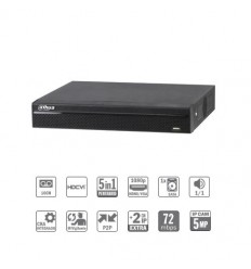 Grabador pentahibrido DVR 5EN1 16ch 1080N/720P@12ips +2IP 5MP 1HDMI 1HDD