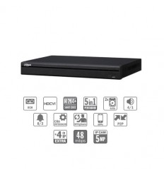Grabador pentahibrido DVR 5EN1 8ch 1080P@12ips +4IP 5MP 1HDMI 2HDD E/S