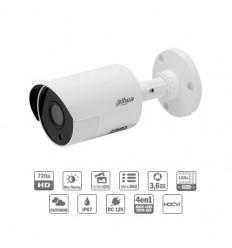 Camara de vigilancia HDCVI Tubular HDCVI 4EN1 1M 720P DN ICR IR30m 0Lux 3.6 IP67 Metálica CFEX-HAC-HFW1000SL