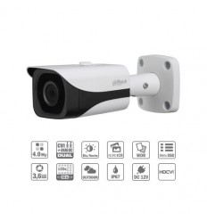 Camara de vigilancia Tubular HDCVI 4M DN WDR IR40m 3.6mm IP67 CFEX-HAC-HFW2401E