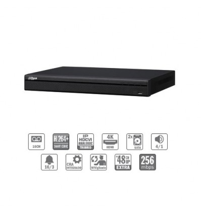 Grabador HDCVI 4EN1 16ch 960H/1080P +48IP 12MP 2HDMI 2HDD E/S CFEX-HCVR8216A-S3