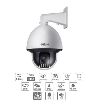 Camara de vigilancia Domo exterior PTZ HDCVI 1M 720P DN ICR WDR Starlight 31X 3D IP67 IK10 CFEX-SD60131I-HC