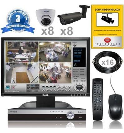 Sistema de videovigilancia en kit para proteger pol gonos - Camaras vigilancia exterior ...