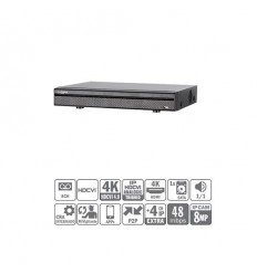 DVR Tríbrido 8ch 4K@12ips +4IP 8MP 1HDMI 1HDD HCVR7108H-4K