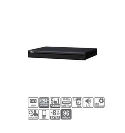 DVR 5EN1 16ch 1080P@25ips +8IP 5MP 1HDMI 1HDD