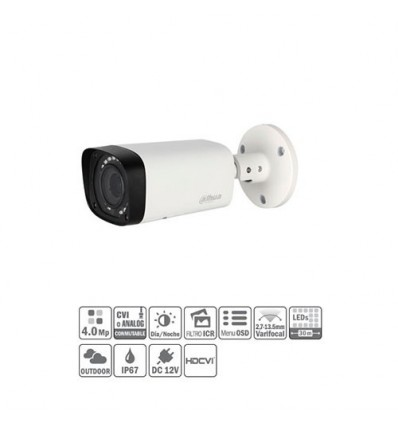 Tubular HDCVI 4M DN DWDR IR30m 2.7-13.5mm IP67 HAC-HFW1400R-VF