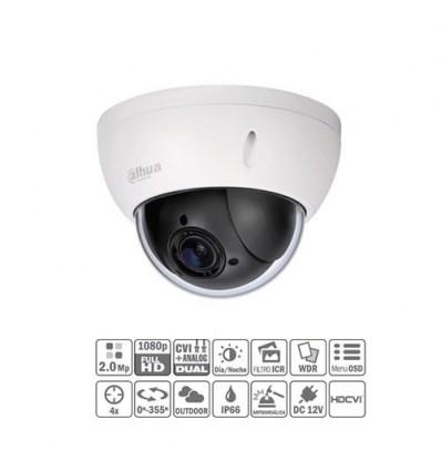 Domo PTZ HDCVI 2M 1080P DN ICR WDR 4X 3D IP66 IK10 Superficie SD22204I-GC