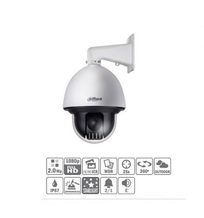 Domo PTZ HDCVI 2M 1080P DN ICR WDR Starlight 25X 3D IP67 IK10 AUDIO SD60225I-HC