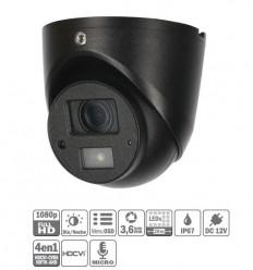 Domo HDCVI 4EN1 2M 1080P DN ICR IR20m 3.6mm IP67 MIC HAC-HDW1220G