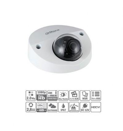 Domo HDCVI 2M 1080P DN ICR WDR Starlight IR20m 0Lux 2.8mm IP67 IK10 HAC-HDBW2231F-0280B