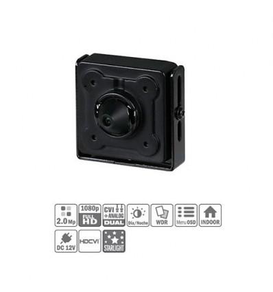 Minicámara Pinhole HDCVI 2M 1080P DN WDR 120dB Starlight 2.8mm HAC-HUM3201B-0280P