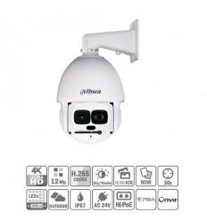Domo PTZ IP 12M 4K H265 DN IR500m 30X 3D V.A. IP67 Hi-POE SD6AL830V-HNI