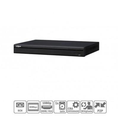 NVR 8ch 80Mbps H264 HDMI 2HDD NVR2208-S2