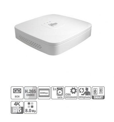 NVR 8ch 80Mbps H264 HDMI 1HDD NVR4108-4KS2