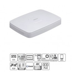 NVR 8ch 80Mbps 4K H265 HDMI 8PoE 1HDD NVR4108-8P-4KS2