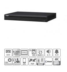 NVR 32ch 320Mbps 4K H265 HDMI 2HDD E/S NVR5232-4KS2