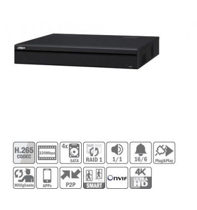 NVR 16ch 320Mbps 4K H265 2xHDMI 16PoE 4HDD E/S NVR5416-16P-4KS2