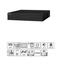 NVR 64ch 384Mbps 4K H265 2xHDMI 8HDD RAID5 E/S NVR608-64-4KS2