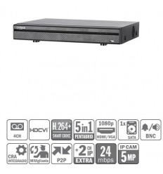 DVR 5EN1 4ch 4M-N/1080P@12ips +2IP 5MP 1HDMI 1HDD E/S XVR5104HE-S2