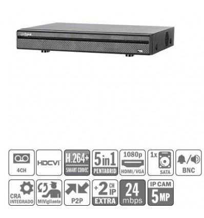 DVR 5EN1 4ch 4M-N/1080P@12ips +2IP 5MP 1HDMI 1HDD E/S XVR5104HE-S2