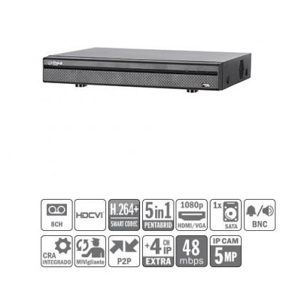 DVR 5EN1 8ch 4M-N/1080P@12ips +4IP 5MP 1HDMI 1HDD XVR5108H-S2