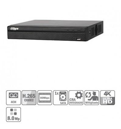NVR 4ch 80Mbps H265 HDMI 1HDD NVR2104HS-4KS2