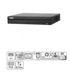 NVR 4ch 80Mbps H265 HDMI 4PoE 1HDD NVR2104HS-P-4KS2