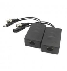 Kit Conversor UTP Vídeo+Alimentación para HDCVI/TVI/AHD RJ45 DC24-36V (2 uds) PFM801