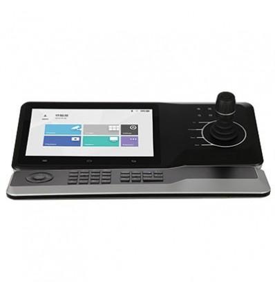 "Joystick con Pantalla Touch 10.1"" IP WiFi RS485 USB 4xHDMI control PTZ DVR NVR NVD 12Vdc + Extension Teclado NKB5000-F"