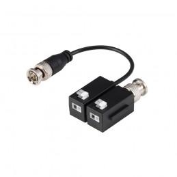 Kit Conversor UTP Vídeo para HDCVI/TVI/AHD hasta 4K Apilable con 1 Cable Flexible y PushPin