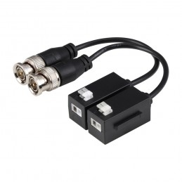 Kit Conversor UTP Vídeo para HDCVI/TVI/AHD hasta 4K Apilable con Cable Flexible y PushPin