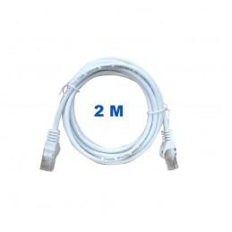 Cable UTP de 2 metros sin blindaje con conectores RJ45 Categoría 5E.
