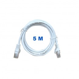 Cable UTP de 5 metros sin blindaje con conectores RJ45 Categoría 5E