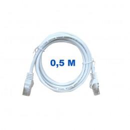 Cable UTP de 0,5 metros sin blindaje con conectores RJ45 Categoría 5E.