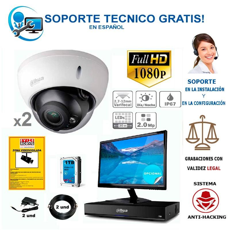 kit de camaras de vigilancia full-hd para  negocios