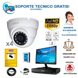 kit de 4 camaras de vigilancia full-hd