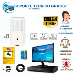 kit de 8 camaras ocultas Full-hd