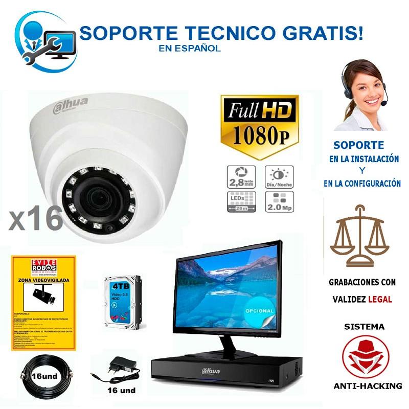 kit de 16 camaras de vigilancia barato